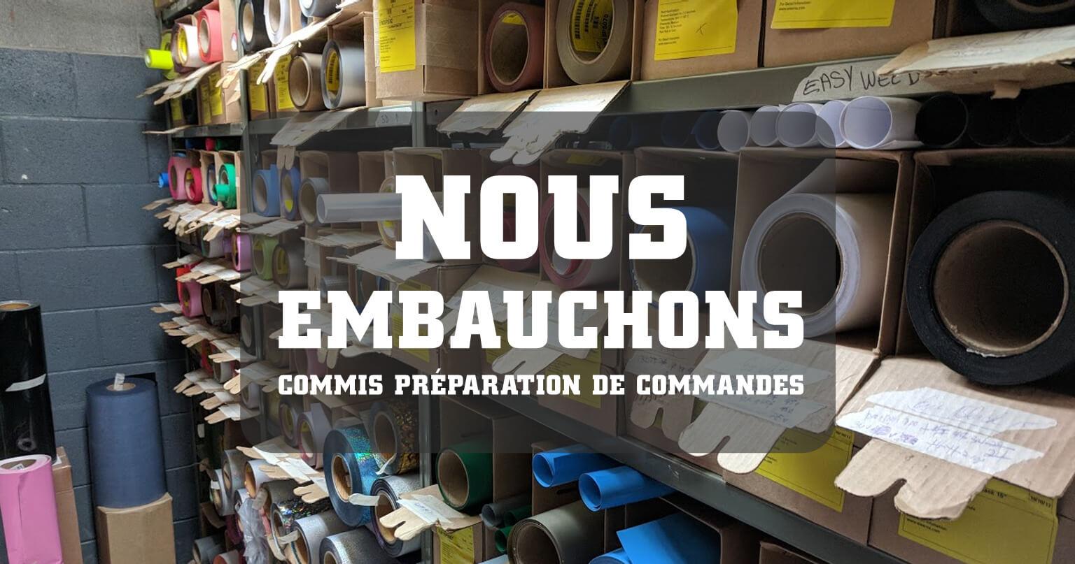 Nous embauchons - Commis préparation de commandes