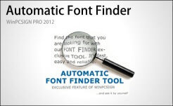 automatic font fidner