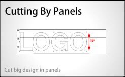 cutting by panels