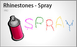 Rhinestone spray