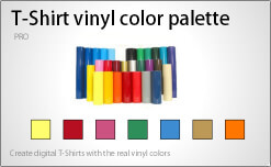 T-Shirt vinyl color palette